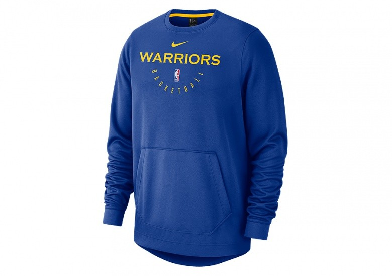 detailing 4bb7b c9bf8 NIKE NBA GOLDEN STATE WARRIORS SPOTLIGHT CREW HOODIE RUSH BLUE