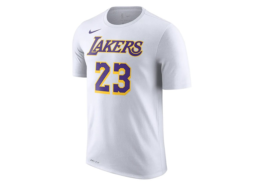 109c565c960 NIKE NBA LOS ANGELES LAKERS LEBRON JAMES DRY TEE WHITE per €32