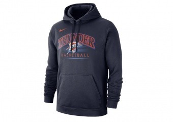 NIKE NBA OKLAHOMA CITY THUNDER CREST HOODY COLLEGE NAVY