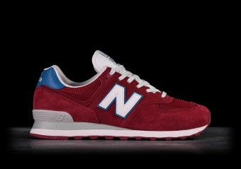 NEW BALANCE 574 BURGUNDY WITH LIGHT BLUE