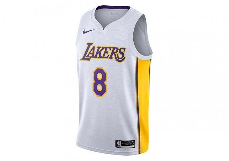 NIKE NBA LOS ANGELES LAKERS KOBE BRYANT SWINGMAN HOME JERSEY WHITE