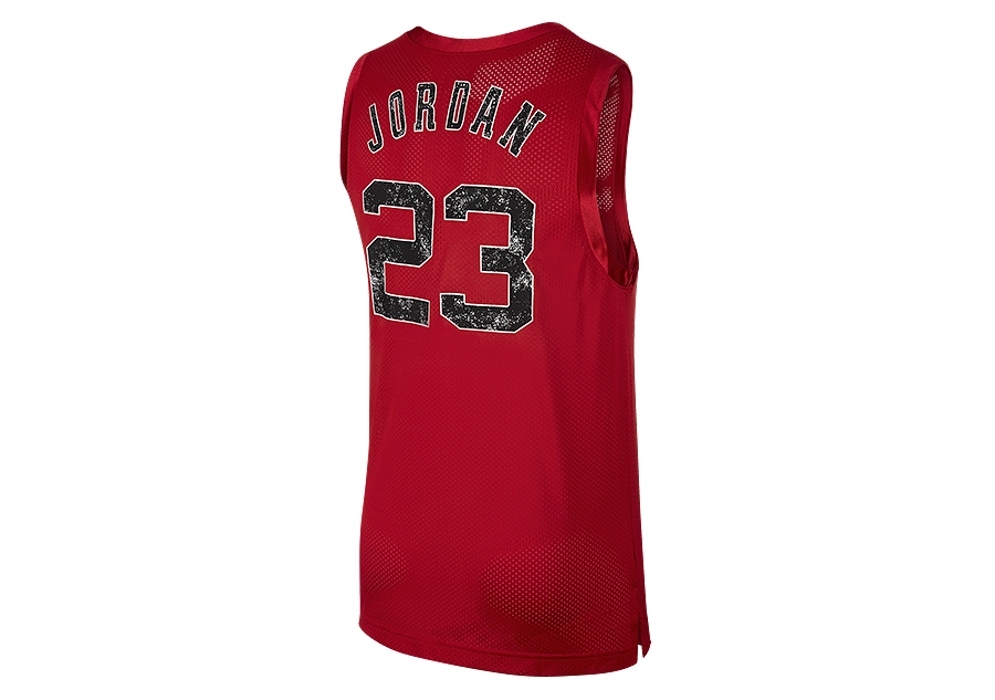 sneakers for cheap 17c86 35485 NIKE AIR JORDAN DNA DISTORTED JERSEY GYM RED