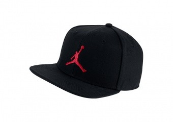 NIKE AIR JORDAN PRO JUMPMAN SNAPBACK BLACK GYM RED