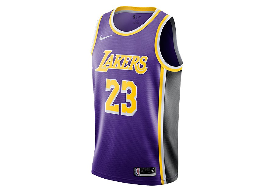 best sneakers 83515 0e051 NIKE NBA LOS ANGELES LAKERS LEBRON JAMES SWINGMAN JERSEY ...