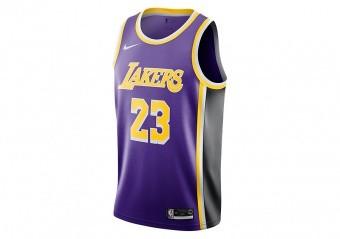 NIKE NBA LOS ANGELES LAKERS LEBRON JAMES SWINGMAN JERSEY FIELD PURPLE
