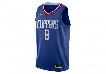 NIKE NBA LOS ANGELES CLIPPERS DANILO GALLINARI SWINGMAN ROAD JERSEY RUSH BLUE