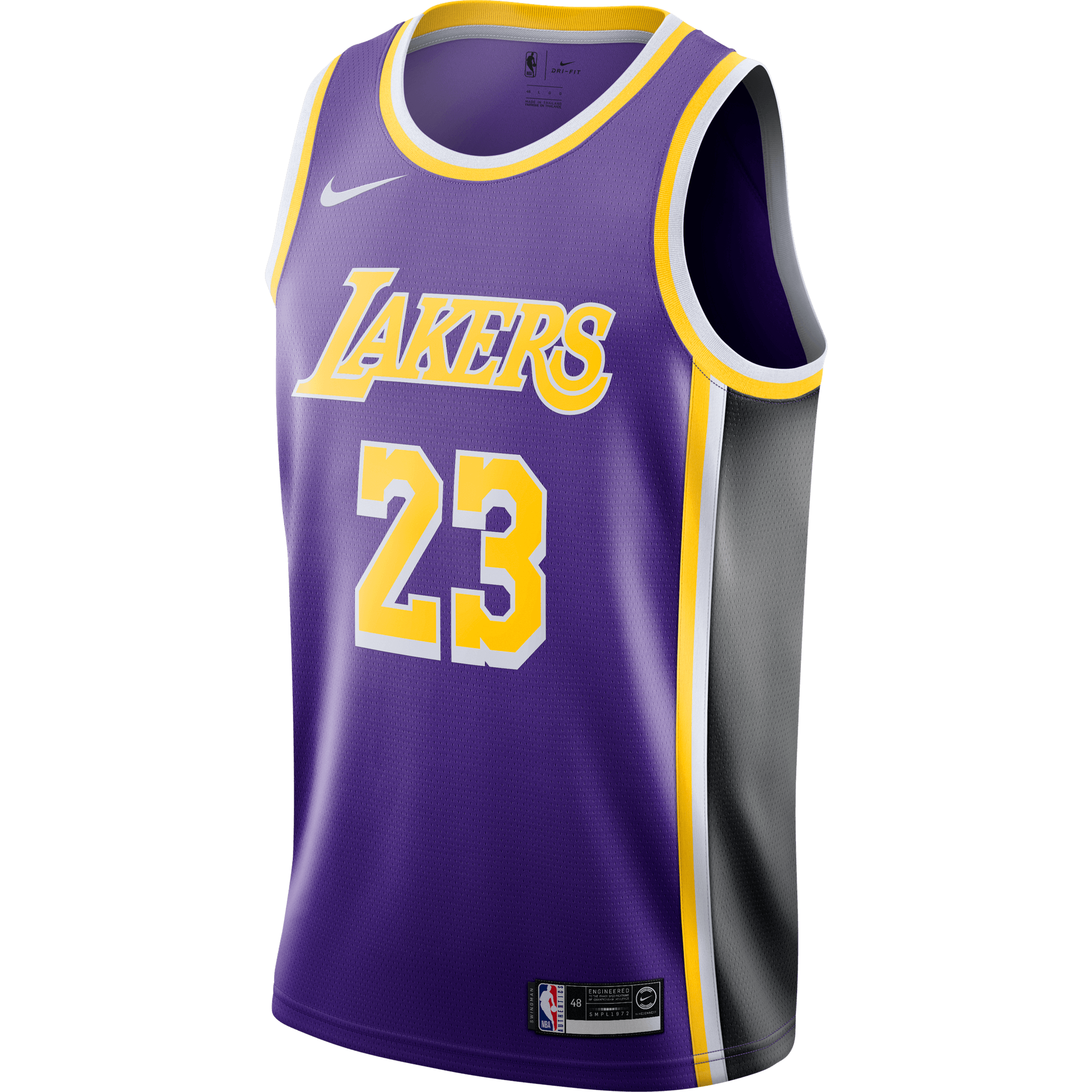 NIKE NBA LOS ANGELES LAKERS LEBRON JAMES SWINGMAN JERSEY