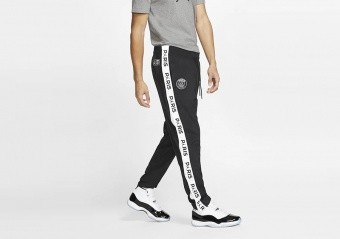 NIKE AIR JORDAN PSG PARIS SAINT-GERMAIN TEARAWAY PANTS BLACK