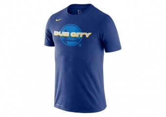 NIKE NBA GOLDEN STATE WARRIORS MANTRA DRY TEE RUSH BLUE