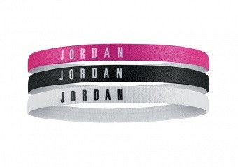NIKE AIR JORDAN HEADBANDS 3PACK VIVID PINK