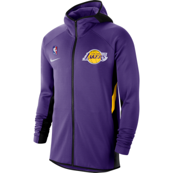 NIKE NBA LOS ANGELES LAKERS THERMA FLEX SHOWTIME HOODIE