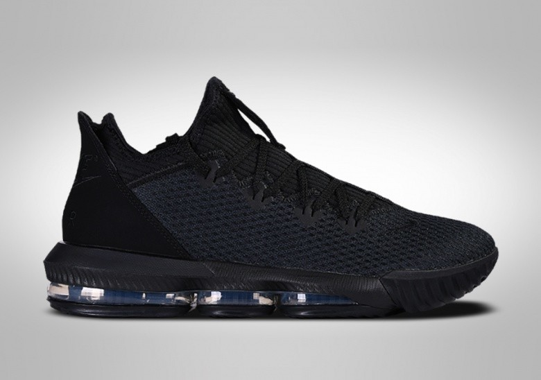NIKE LEBRON 16 LOW TRIPLE BLACK