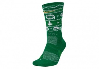 NIKE ELITE CHRISTMAS CREW SOCKS CLOVER