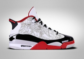 NIKE AIR JORDAN DUB ZERO OG WHITE BLACK RED LASER