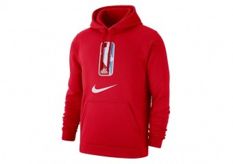 NIKE NBA N31 PULLOVER FLEECE HOODIE UNIVERSITY RED