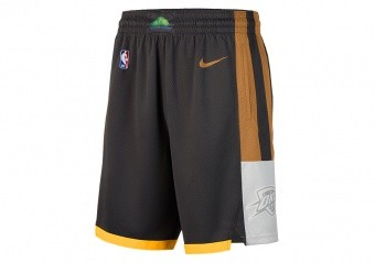 NIKE NBA OKLAHOMA CITY THUNDER SWINGMAN SHORTS ANTHRACITE