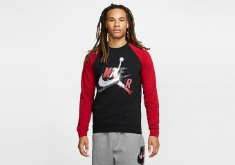 NIKE AIR JORDAN JUMPMAN CLASSICS CREW BLACK