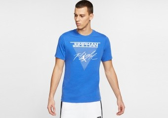 NIKE AIR JORDAN JUMPMAN FLIGHT TEE GAME ROYAL