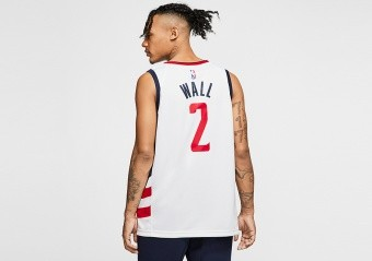 NIKE NBA WASHINGTON WIZARDS JOHN WALL CITY EDITION SWINGMAN JERSEY WHITE
