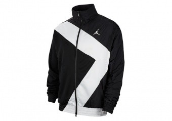 NIKE AIR JORDAN WINGS DIAMOND JACKET BLACK WHITE