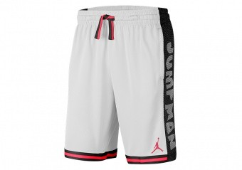 NIKE AIR JORDAN JUMPMAN BASKETBALL SHORTS WHITE
