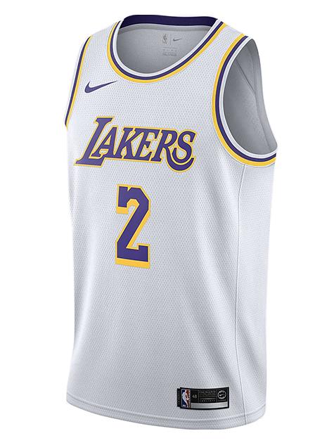 NIKE NBA LOS ANGELES LAKERS LONZO BALL SWINGMAN JERSEY for £65.00 ...