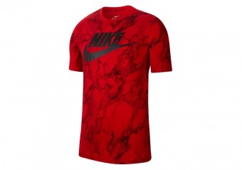 NIKE SWOOSH MARBLE TEE UNIVERSITY RED