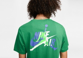 NIKE AIR JORDAN JUMPMAN CLASSICS GRAPHIC TEE ALOE VERDE