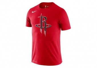 NIKE NBA HOUSTON ROCKETS LOGO DRI-FIT TEE UNIVERSITY RED