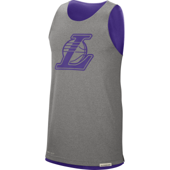NIKE NBA LOS ANGELES LAKERS STANDARD ISSUE REVERSIBLE TANK
