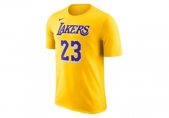 NIKE NBA LOS ANGELES LAKERS LEBRON JAMES TEE AMARILLO