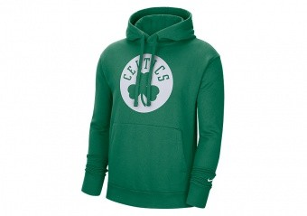 NIKE NBA BOSTON CELTICS ESSENTIAL LOGO PULLOVER HOODIE CLOVER