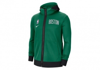 NIKE NBA BOSTON CELTICS SHOWTIME THERMA FLEX HOODIE CLOVER
