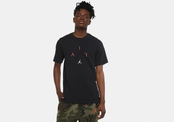 NIKE AIR JORDAN 'AIR' DRI-FIT TEE BLACK INFRARED 23