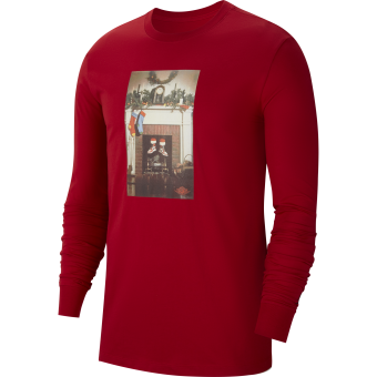 JORDAN JUMPMAN CHMINEY CHRISTMAS LONG-SLEEVE CREW TEE