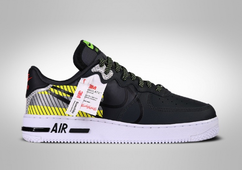 NIKE AIR FORCE 1 LOW REACT LX 3M PACK BLACK pour €119,00 ...