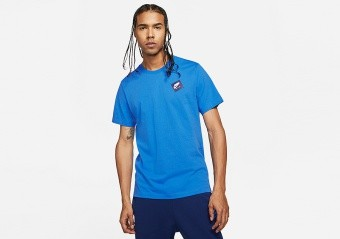 NIKE AIR JORDAN JUMPMAN CLASSICS GRAPHIC CREW TEE SIGNAL BLUE