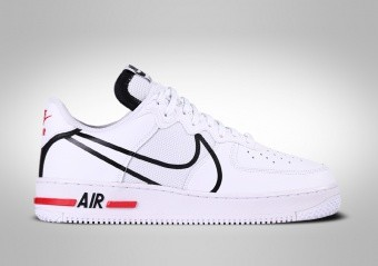 NIKE AIR FORCE 1 LOW REACT WHITE RED