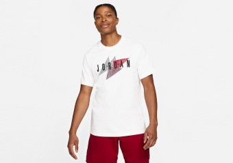 NIKE AIR JORDAN JUMPMAN AIR WORDMARK CREW TEE WHITE