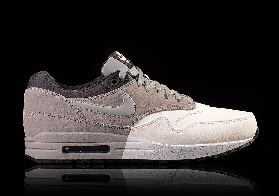 NIKE AIR MAX 1 PRM SUMMIT WHITE DARK CHARCOAL GREY